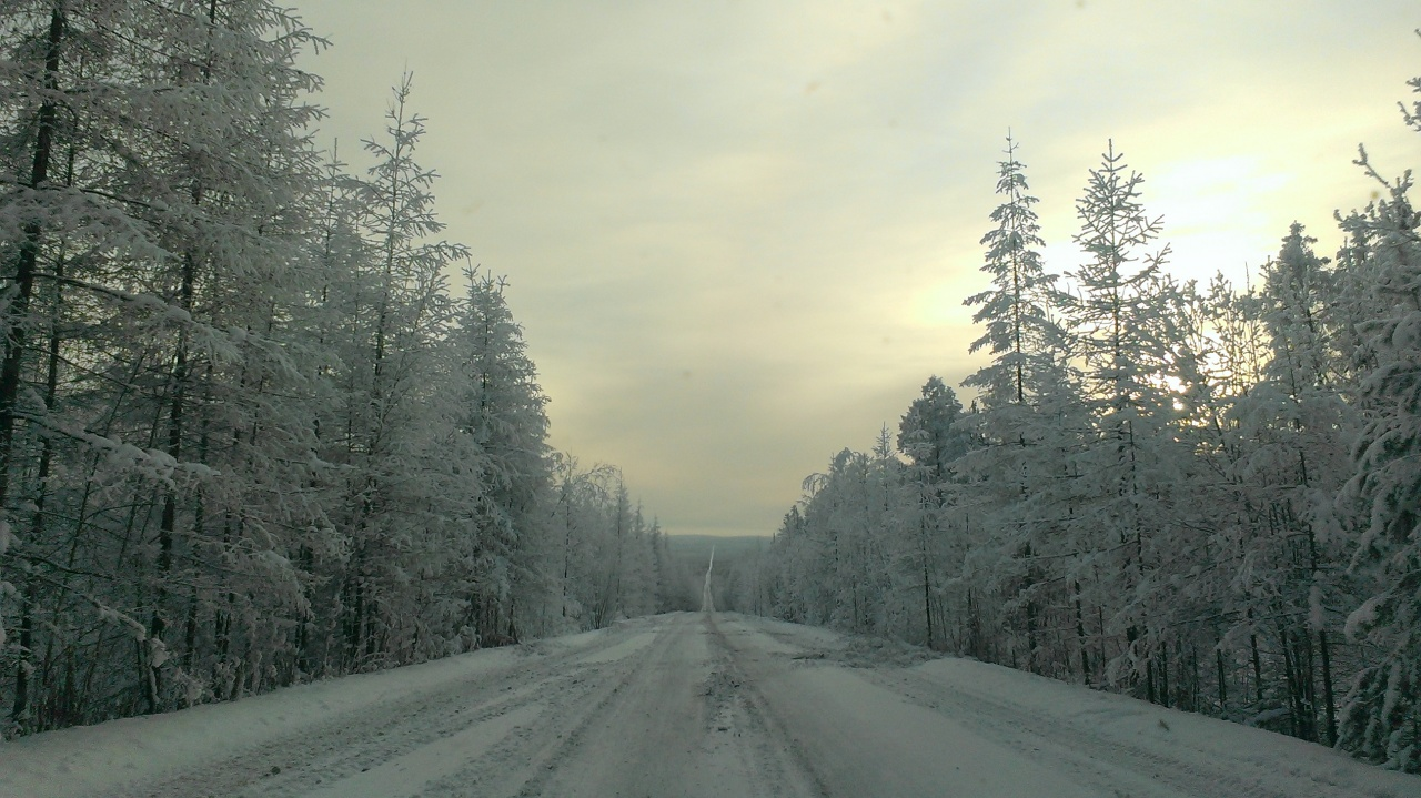 дорога в с.Карам, 1 января 2016