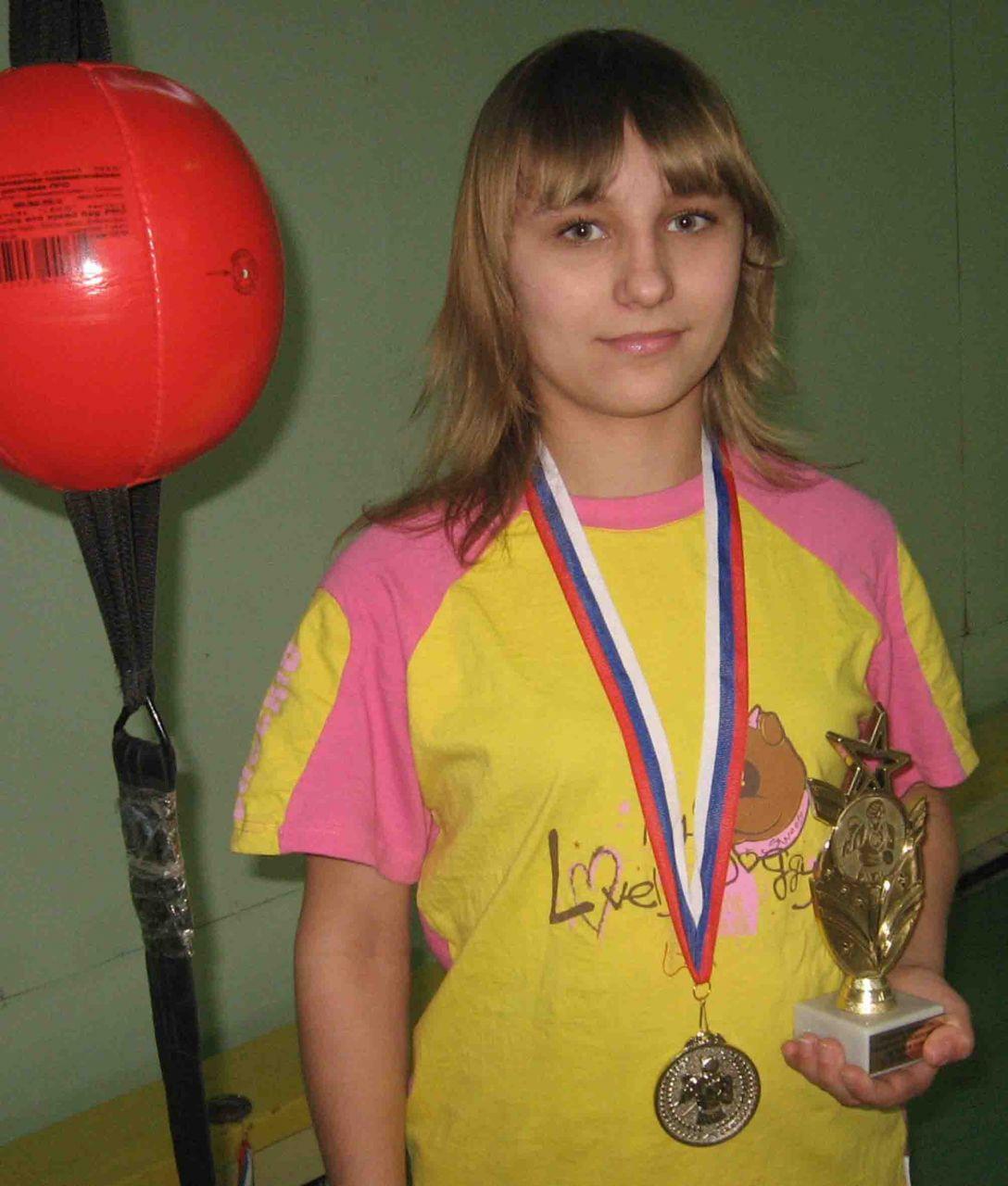 Елена Карпова, бронзовый призер Российского первенства по боксу