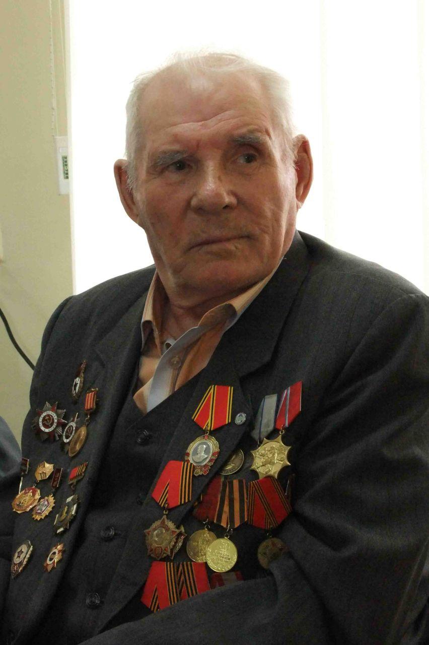 ветеран Великой Отечественной В.А. Бакуров. п. Улькан