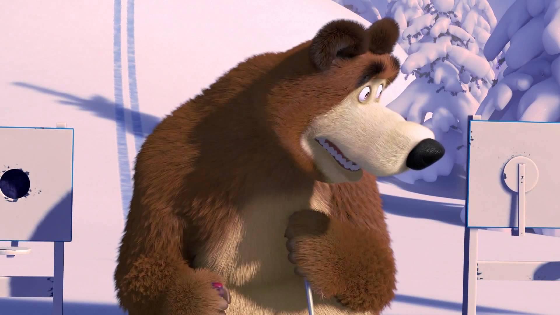 Маша и Медведь - Лыжню! (Сними меня я накаталась)