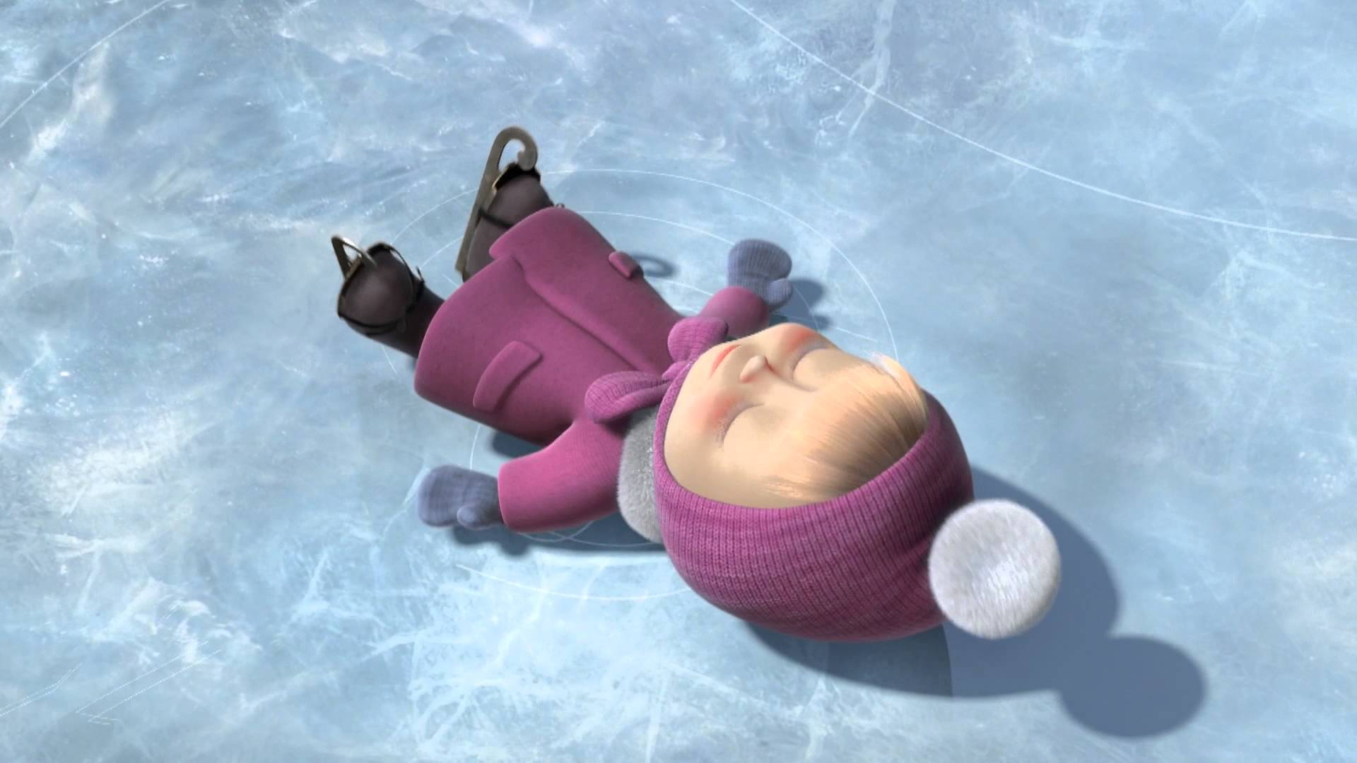 Маша и Медведь - Праздник на льду (Ну кто детей на льду бросает?)