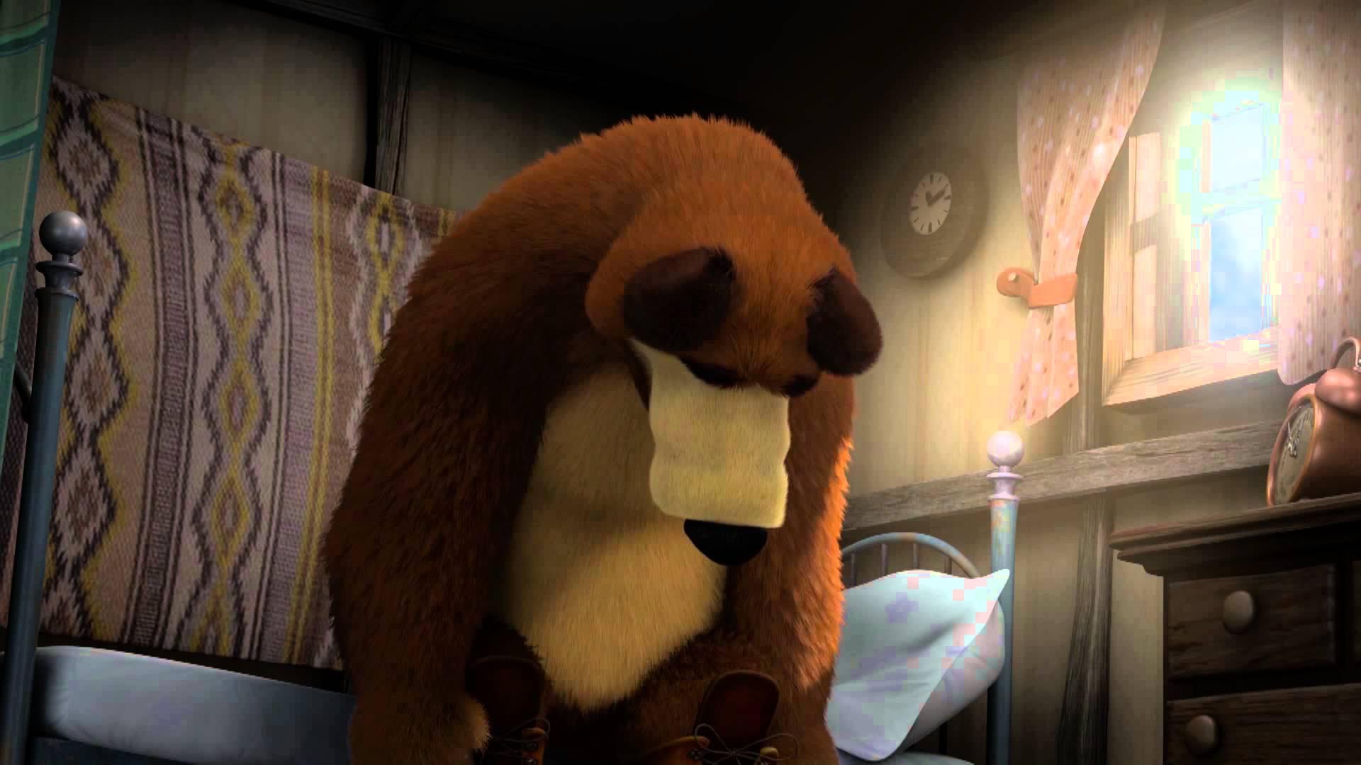 Маша и Медведь - Праздник на льду (Это не медведь, это лось какой-то!)