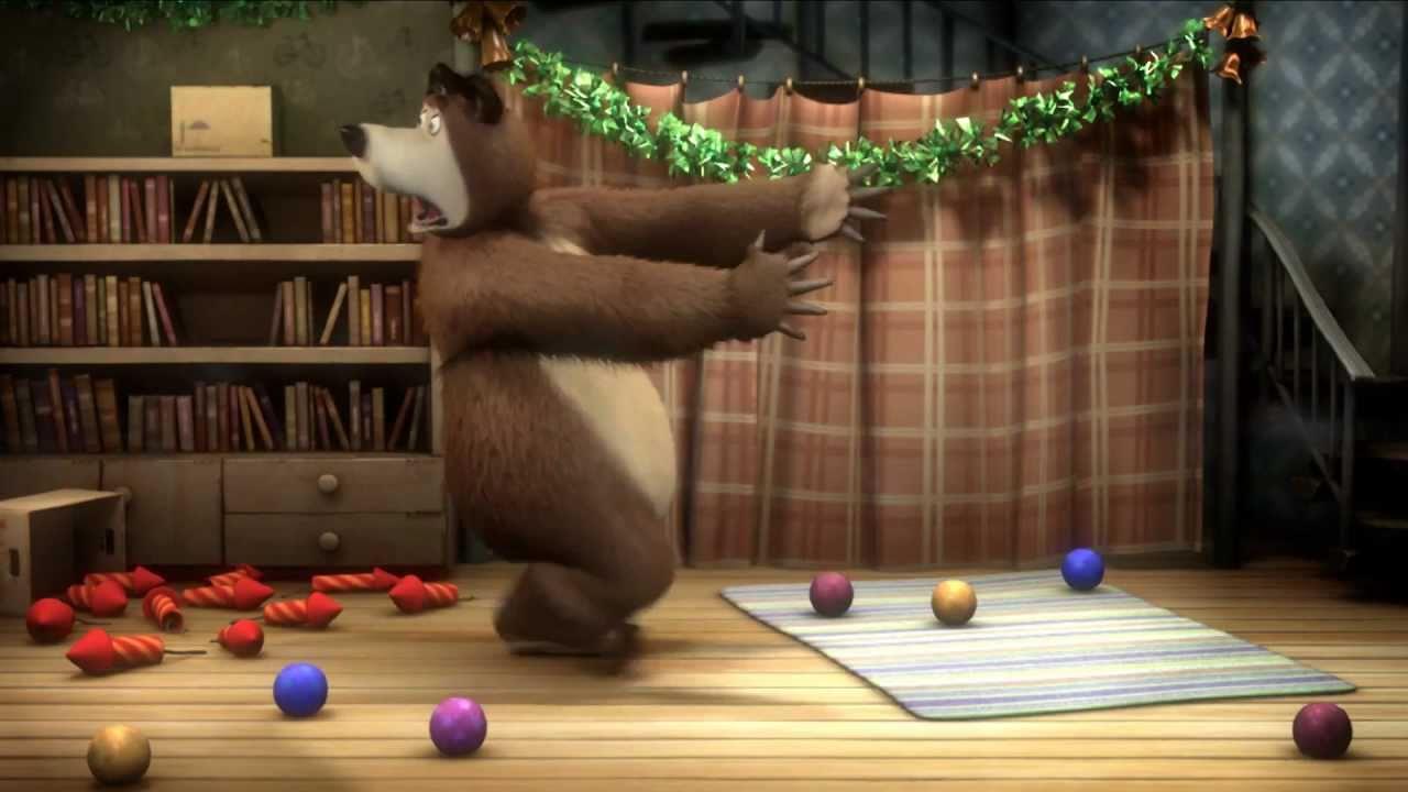 Маша и Медведь - Раз, два,три! Елочка гори! (Ракета)