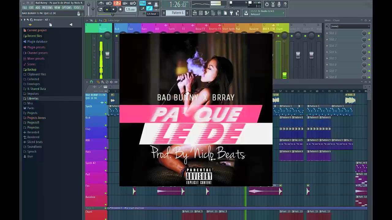 *FREE FLP!! Bad Bunny - Pa que le de (Prod. by Niclo Beats) FL Studio Remake Специально для Kirenga-