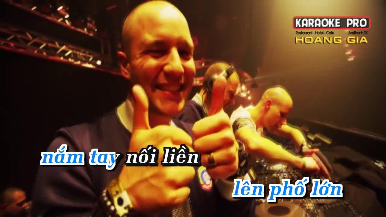 NOI VONG TAY LON karaoke HD